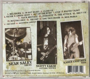 The Guns - Attack CD (back)