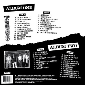 The Guns double LP back